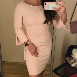 Calvin Klein Light Pink Dress w/ Pearl accent